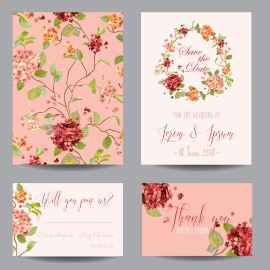 Wedding Flowers Vector Free Download : Autumn flower wedding invitation vectors vector
