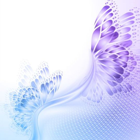 Beautiful butterfly wing with abstract background vector 01