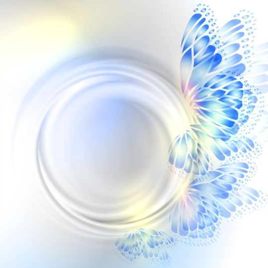 Beautiful butterfly wing with abstract background vector 09