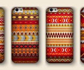 Beautiful mobile phone cover template vector 14