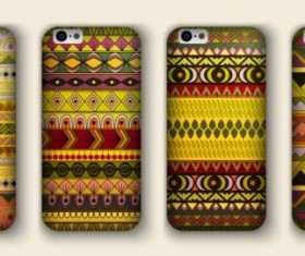 Beautiful mobile phone cover template vector 15