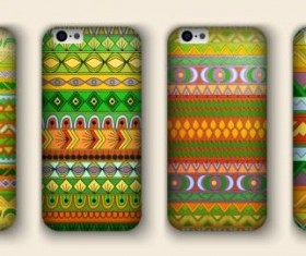 Beautiful mobile phone cover template vector 16