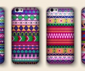 Beautiful mobile phone cover template vector 17