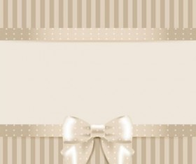 Beige cards with bow vector
