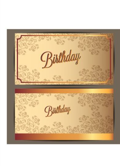 Birthday invitation card with golden floral vector 05 free download birthday invitation card with golden floral vector 05 stopboris Choice Image