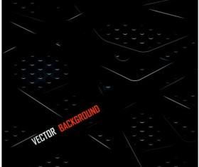 Black metal layered background vector 01