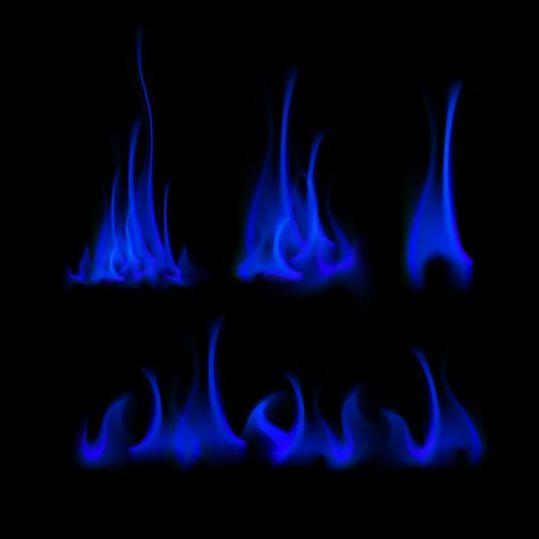 Blue fire flames