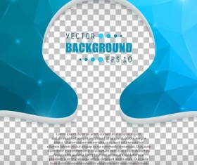 Blue polygon brochure cover template illustration vector 01