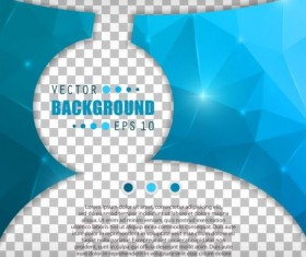 Blue polygon brochure cover template illustration vector 02