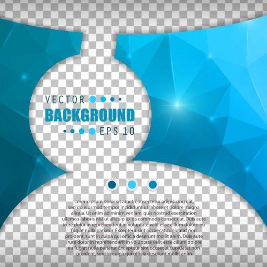 Blue polygon brochure cover template illustration vector 02