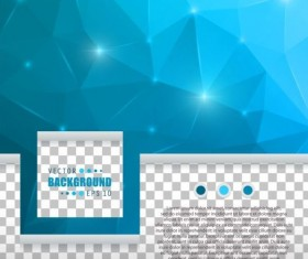 Blue polygon brochure cover template illustration vector 03