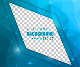 Blue polygon brochure cover template illustration vector 05