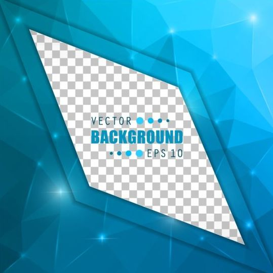 Blue polygon brochure cover template illustration vector 05