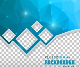 Blue polygon brochure cover template illustration vector 06