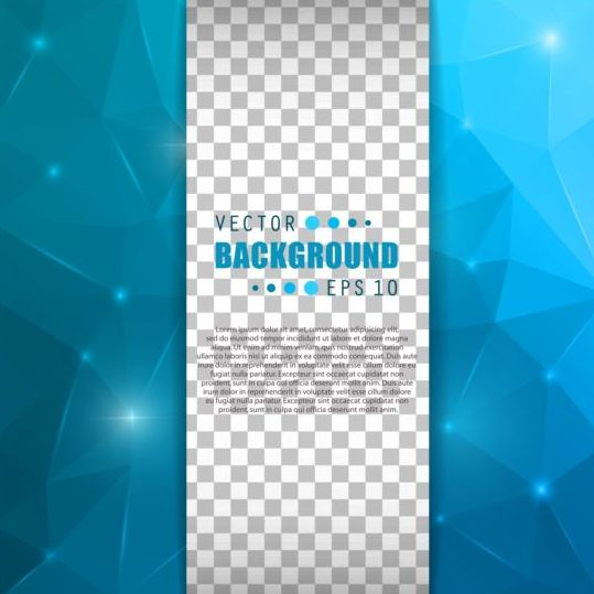 Blue polygon brochure cover template illustration vector 07