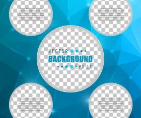 Blue polygon brochure cover template illustration vector 09