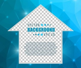Blue polygon brochure cover template illustration vector 10