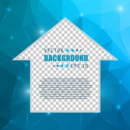 Blue polygon brochure cover template illustration vector 10
