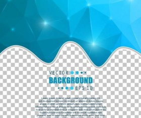 Blue polygon brochure cover template illustration vector 11