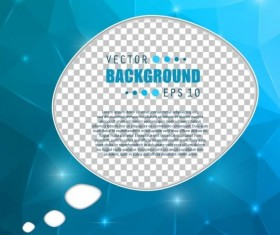 Blue polygon brochure cover template illustration vector 12