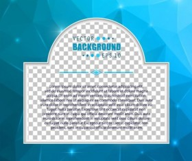Blue polygon brochure cover template illustration vector 15