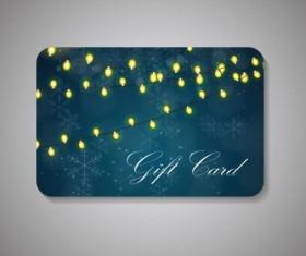 Bulbs and snowflakes with christmas gift card vector