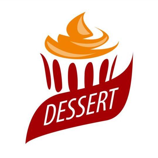 Cake With Orange Cream Logo Vector