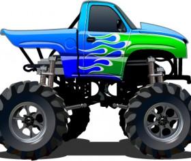 Cartoon sport utility vehicle vector 08