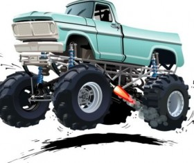 Cartoon sport utility vehicle vector 09