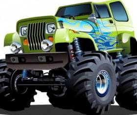 Cartoon sport utility vehicle vector 10
