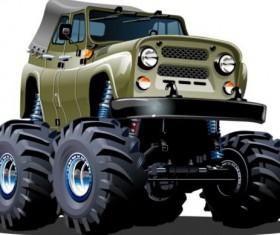 Cartoon sport utility vehicle vector 11