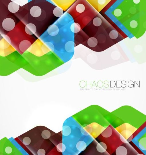 Chaos abstract background template vector 03