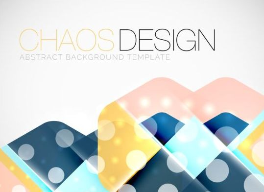 Chaos abstract background template vector 08