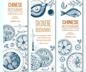 Chinese restaurant vertical menu vector