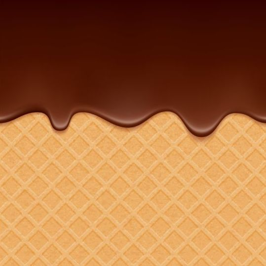 Chocolate Drop With Waffles Background Vector 02 Vector