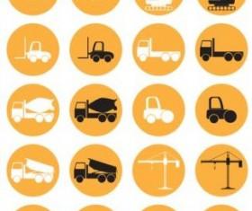 Circle construction icons set