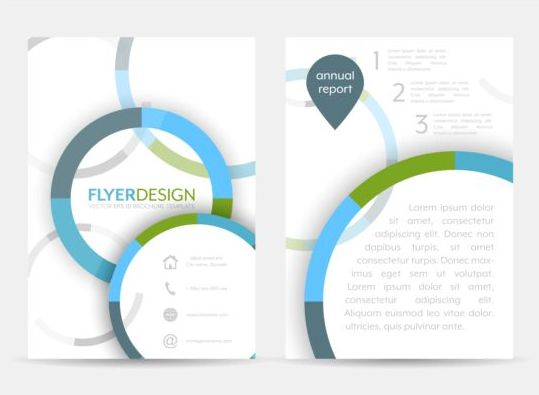Circular flyer cover creative vector 02