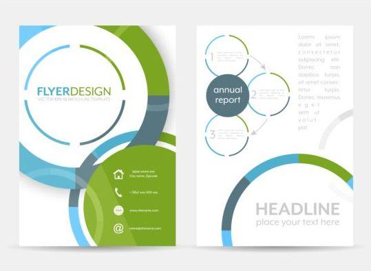 Circular flyer cover creative vector 04