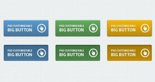 Classic Web Buttons Psd Graphic