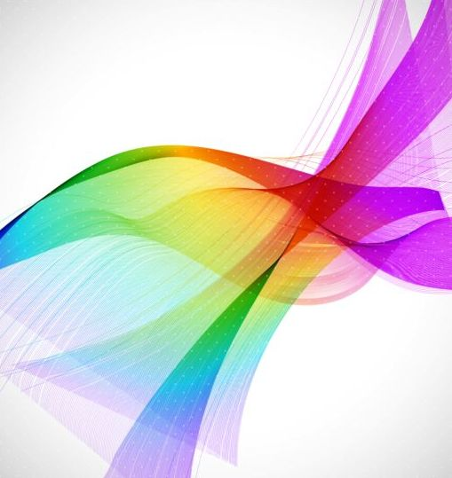 Colorful curves wave background vector 01