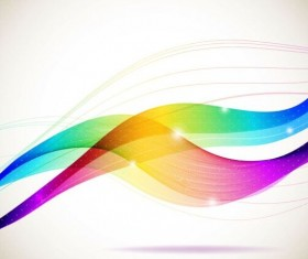 Colorful curves wave background vector 02