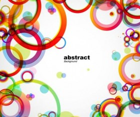 Colorful round fashion background vector 01