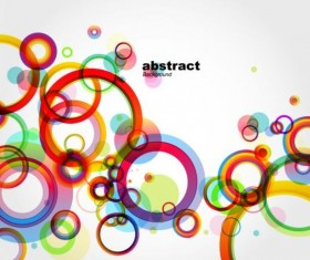 Colorful round fashion background vector 02