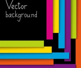 Colorful stripes with black background vector