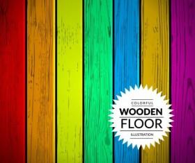 Colorful wooden floor background vector illustration 01