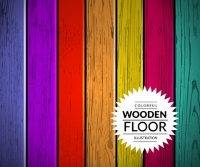 Colorful wooden floor background vector illustration 02