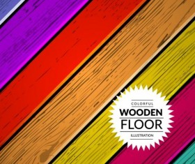 Colorful wooden floor background vector illustration 03