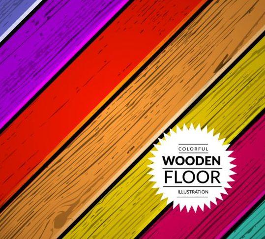 Colorful wooden floor background vector illustration 03