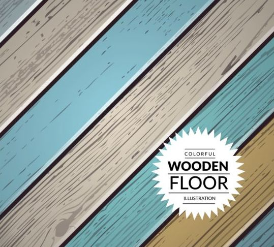 Colorful wooden floor background vector illustration 04