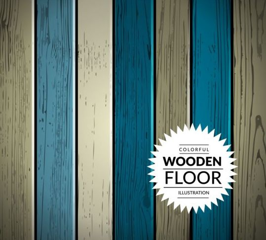 Colorful wooden floor background vector illustration 05